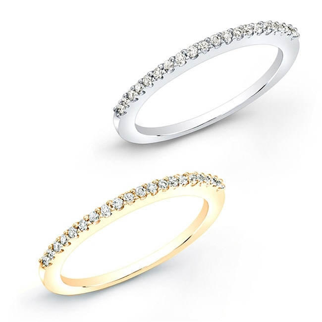 Eziba Collection 10k Gold 1/10ct TDW Round Diamond Prong-set Wedding Band (J-K, I2-I3) at Sears.com