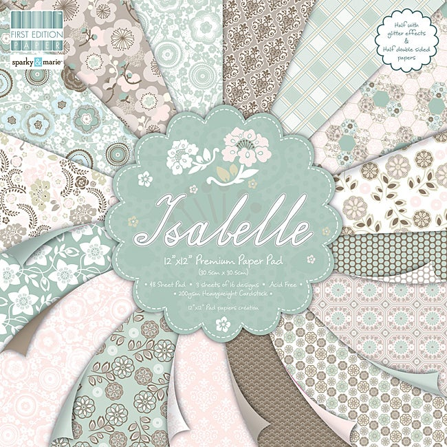 First Edition 'Isabelle' 12-inch Scrapbook Premium Paper Pad