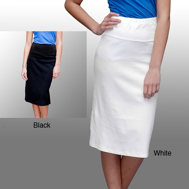 A to Z Women's Fitted Kick-back Skirt