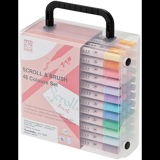 Zig Memory System Scroll & Brush Color Set (Set of 48)
