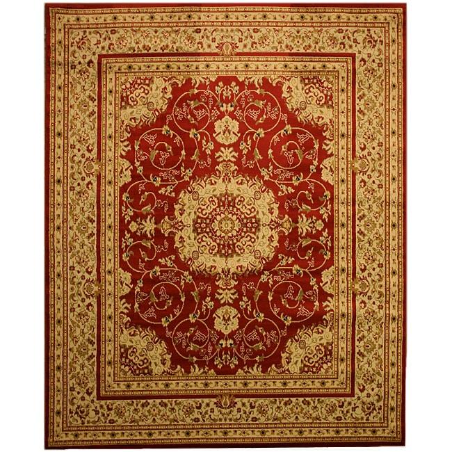 Red Esfahan Rug (5'2 x 7'2)