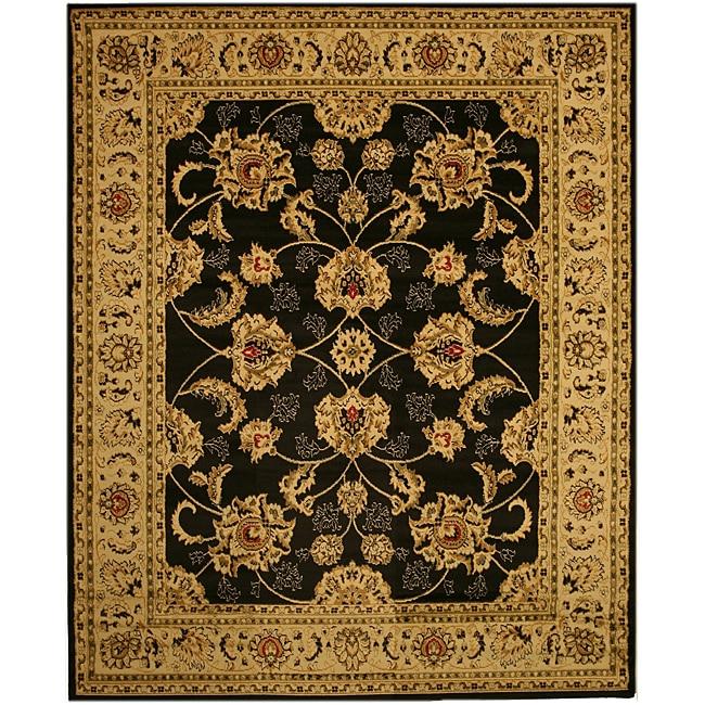 Antep Black Agra Rug (3'11 x 5'5)