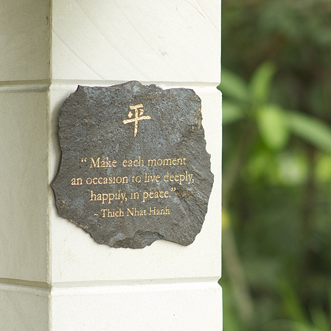 Volcanic Slate 'Make Each Moment' Engraved Plaque (Indonesia)