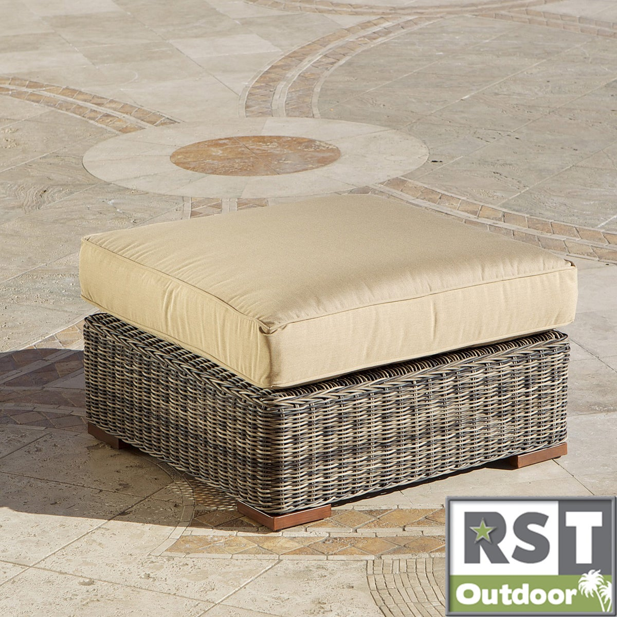 RST Resort Collection 36-inch Oversized Ottoman in Weathered Grey