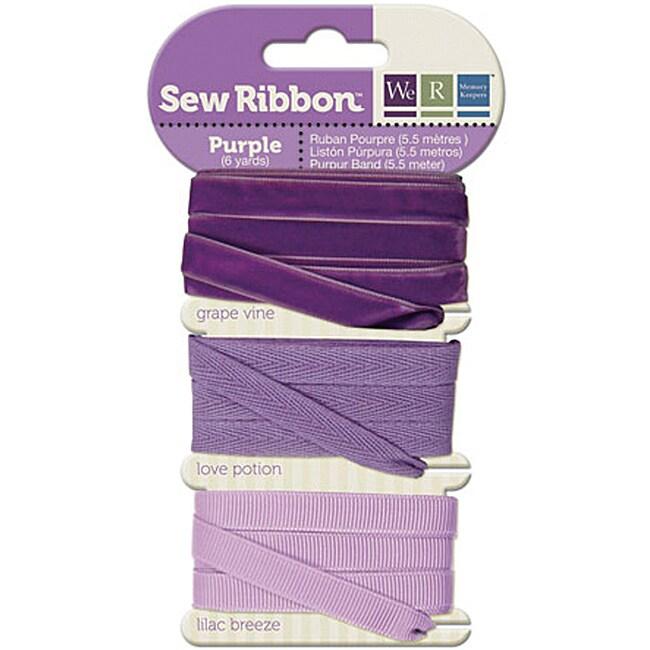 Sew Ribbon 6-Yard Purple Ribbon