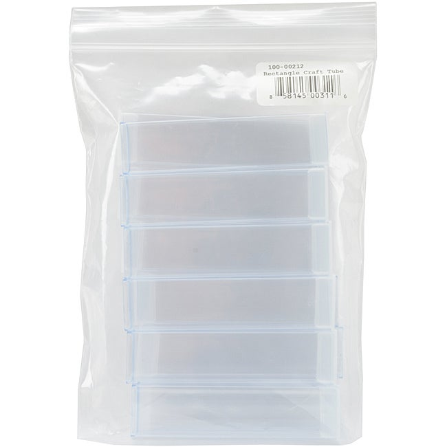 Clear Rectangle Trendy Craft Tube (Pack of 12)