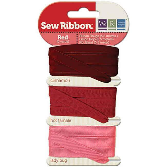 Sew Ribbon Red Ribbon (Pack of 3)