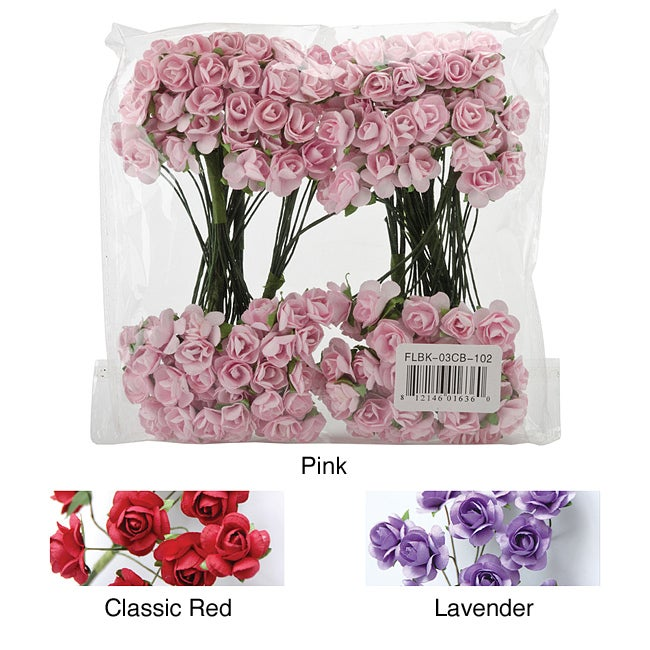 Mini rose bulk paper flowers 144 stems mightylinksfo