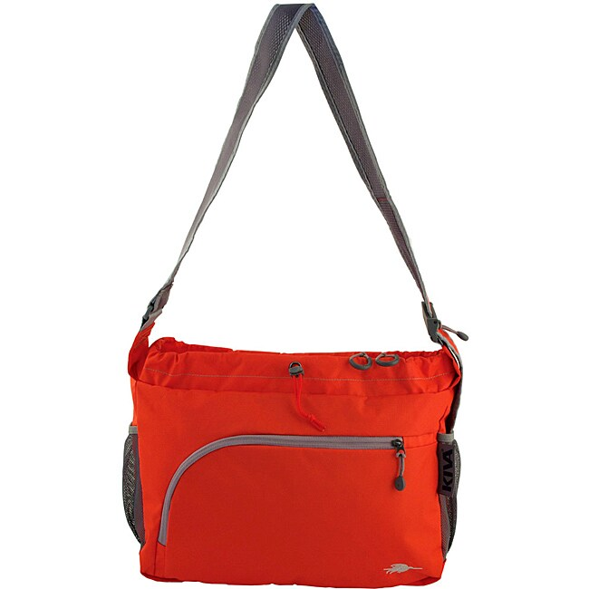Kiva Packing Genius Persimmon Stowaway Messenger Bag