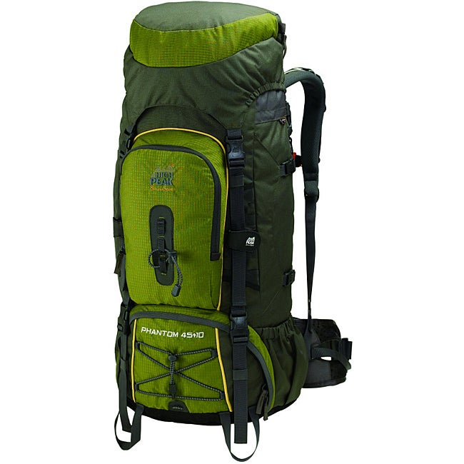 Alpinizmo by High Peak USA Phantom 45+10 Hiking Backpack with Detachable Toplid