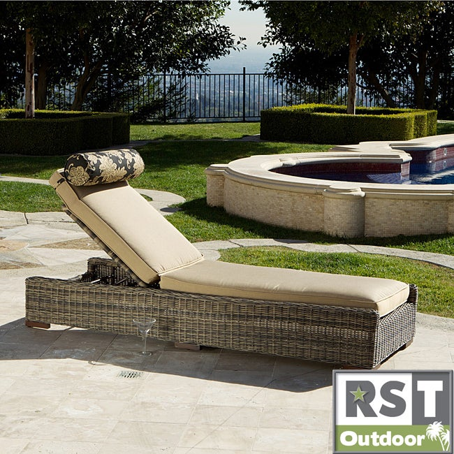Overstock.com Resort Collection Weathered Grey Outdoor Chaise Lounger at Sears.com