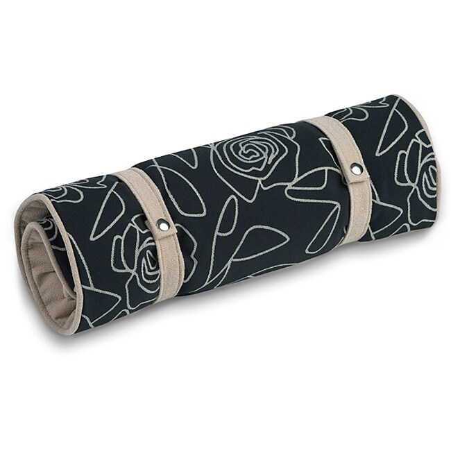 Crypton 'Bed of Roses' Black Dog Bed (17 x 25)