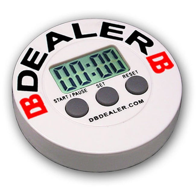 Dealer Button Poker Accessory with Built-in Digital Timer