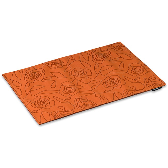 Crypton 'Bed of Roses' Orange 26-inch Mess Mat