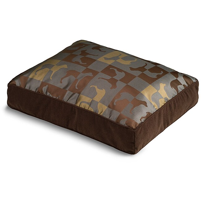 Crypton 'Gameboard' Chestnut Dog Bed (18 x 24)