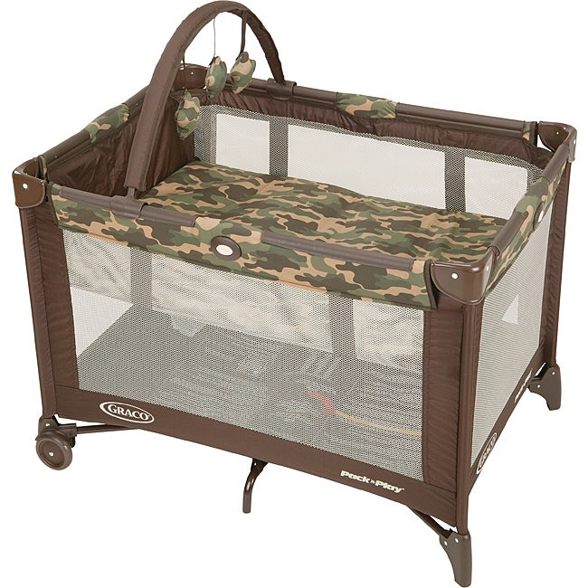 Graco Pack 'n Play Playard with Bassinet in Camo Joe