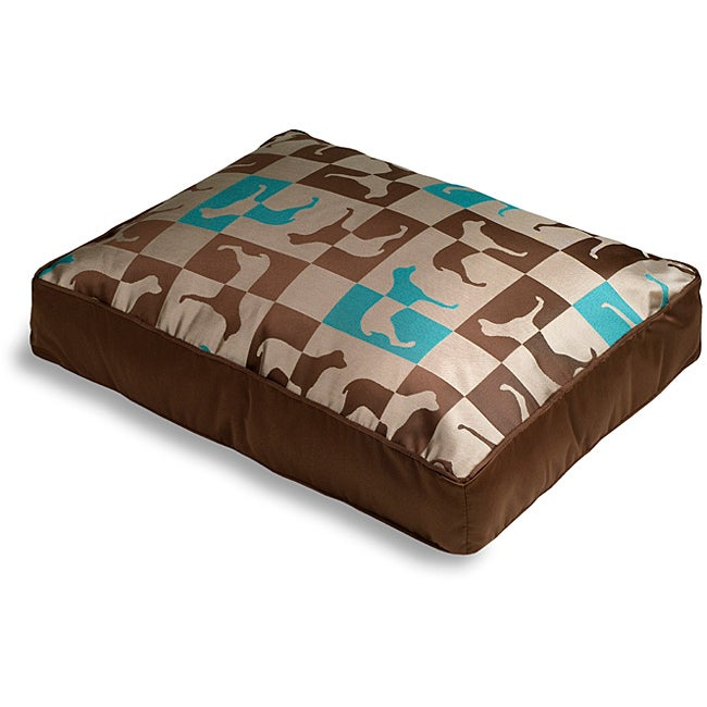 Crypton 'Gameboard' Chocolate Mint Dog Bed (36 x 44)