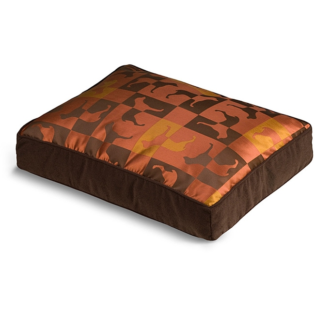Crypton 'Gameboard' Burnt Orange Dog Bed (18 x 24)