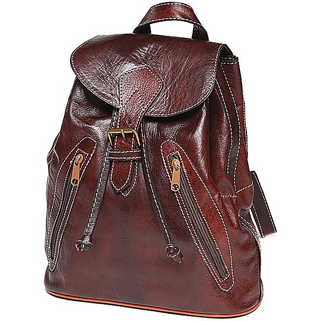 Chestnut Brown Leather Backpack (Morocco)