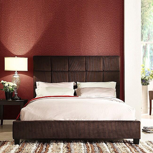 Sarjevo Chocolate Brown Corduroy King-size Bed