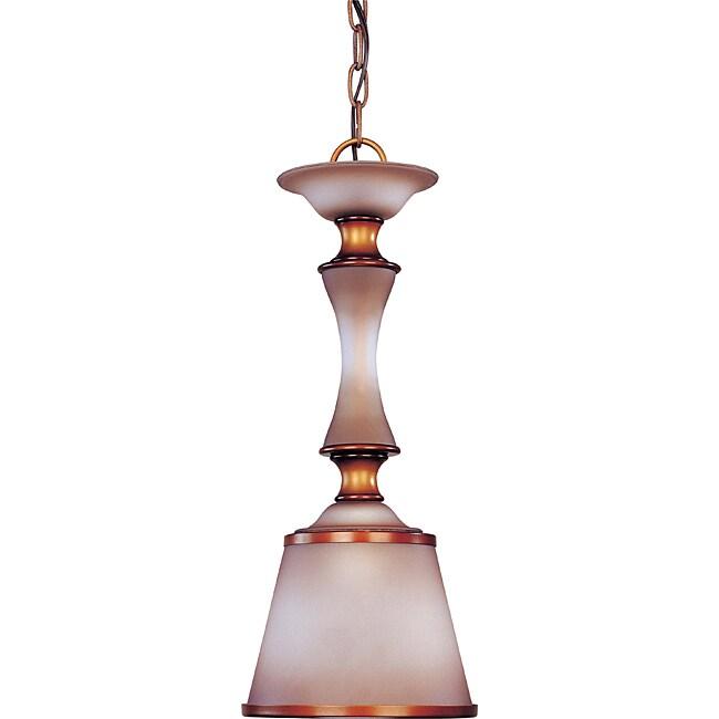 Cornelia Mini-pendant Newport Copper Finish with Autumn Haze Glass