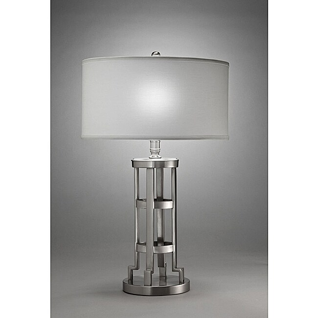 Aztec Lighting Contemporary 1-light Table Lamp in Matte Nickel