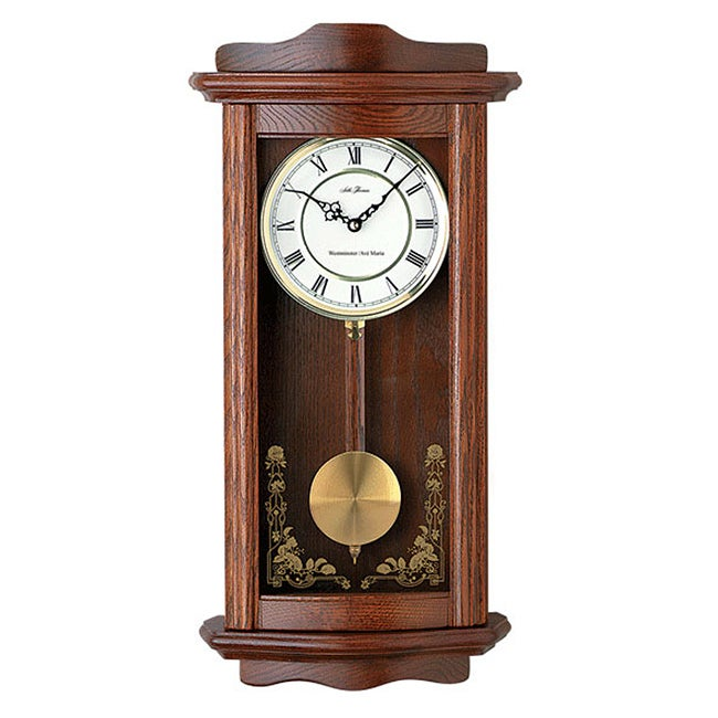Seth Thomas Oak Pendulum Wall Clock