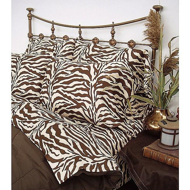 Wildlife Brown Zebra Cal King-size Sheet Set