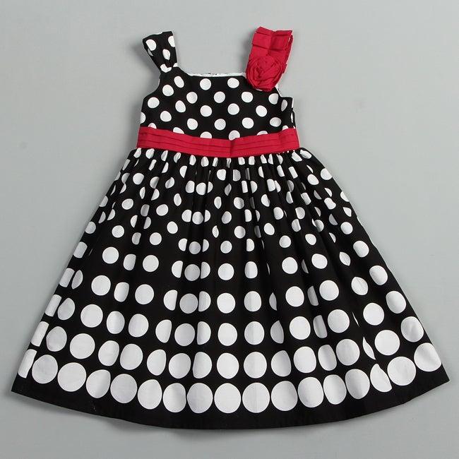 Donita Girl's Polka Dots Dress
