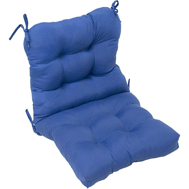 Overstock.com Aqua Blue Outdoor Seat/Back Chair Cushion at Sears.com