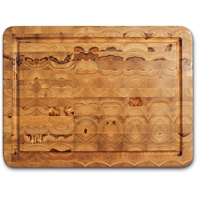 Proteak 309 Teak Rectangle Cutting Board with Juice Canal