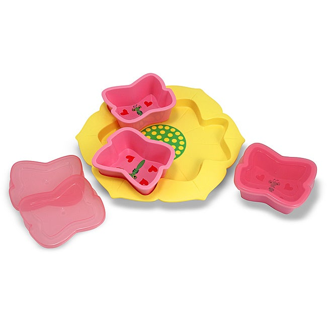 Melissa & Doug Bella Butterfly Bowls and Tray Set