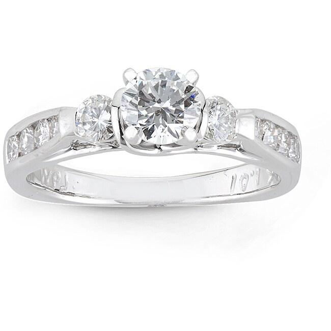 14k White Gold 1ct TDW Round Diamond Engagement Ring (H-I I1)
