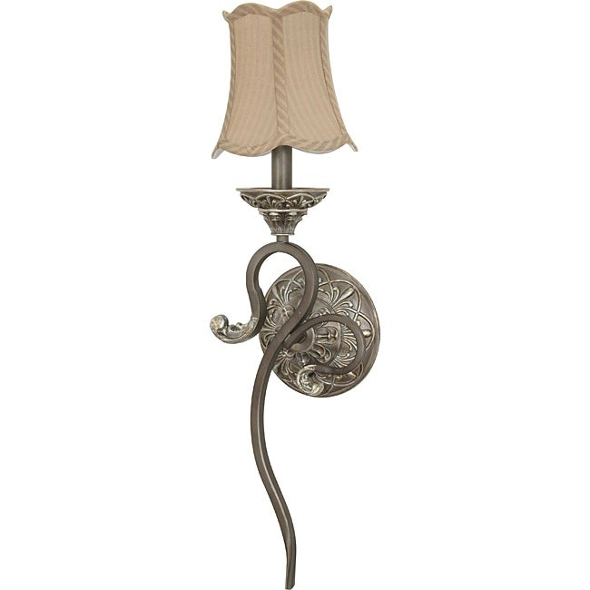 Celeste Gold Coast Striped Fabric Shade Wall Sconce