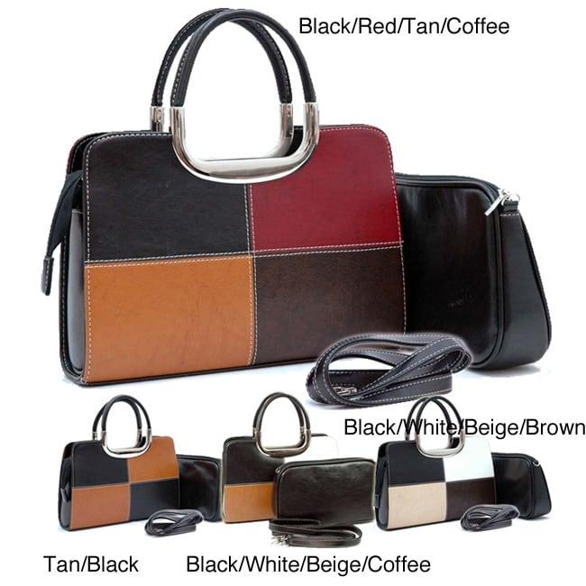 Dasein Classic 2-in-1 Satchel Bag