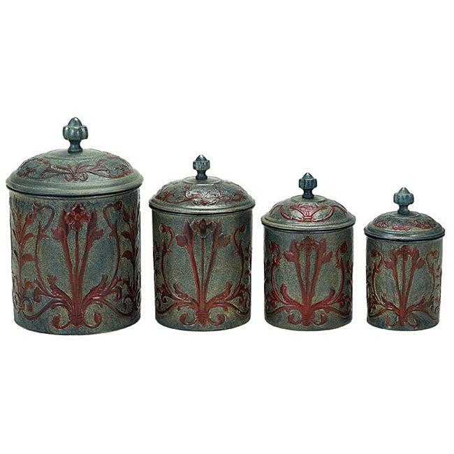 Art Nouveau Canister (Set of 4)