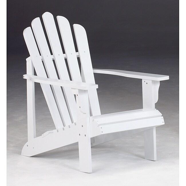 Bernards Addison White Cedar Adirondack Patio Chair