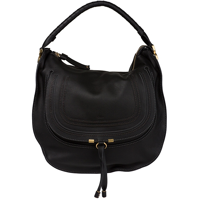 replica chloe purses - Chloe 'Marcie' Large Black Leather Hobo - 14167820 - Overstock.com ...
