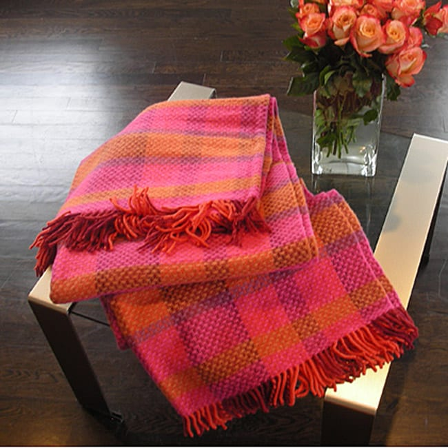 Henry Oversized Plaid Wool Throw