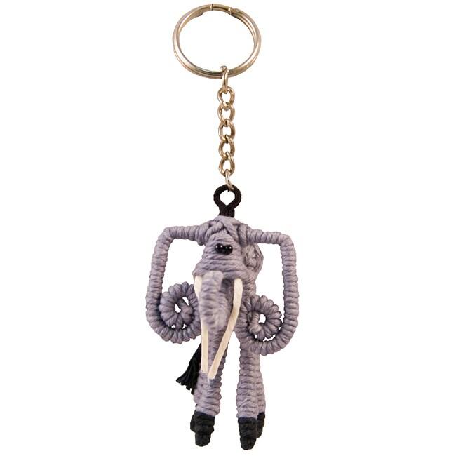 Yarn Elephant Keychain (Colombia)