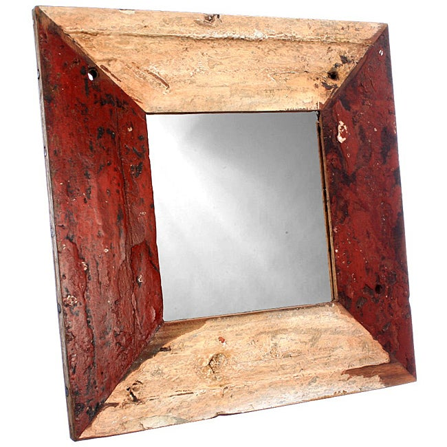 Ecologica Furniture Reclaimed Hardwood Square Mirror