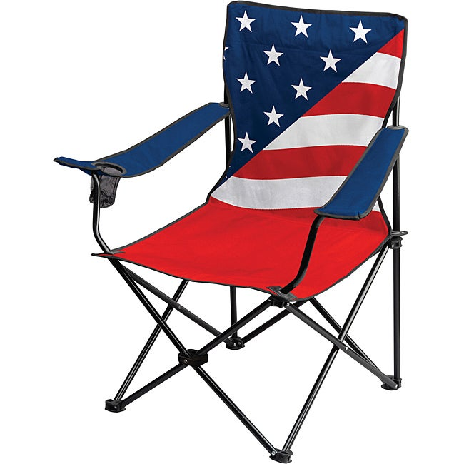 Patriotic American Flag Folding Chair