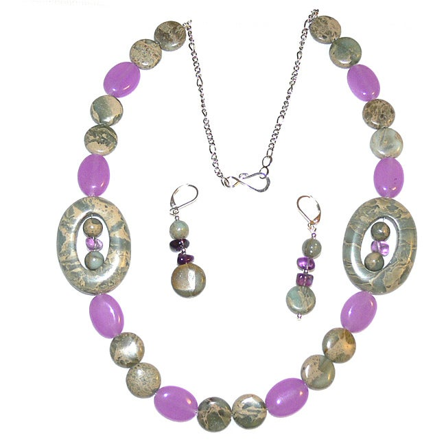 Susen Foster Designs 'Easter Lilies' Necklace and Earring Set