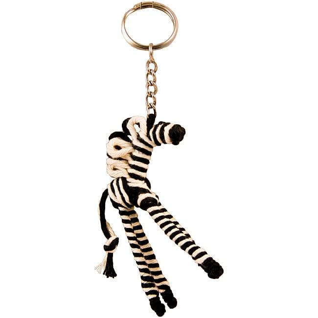 Yarn Zebra Keychain (Colombia)