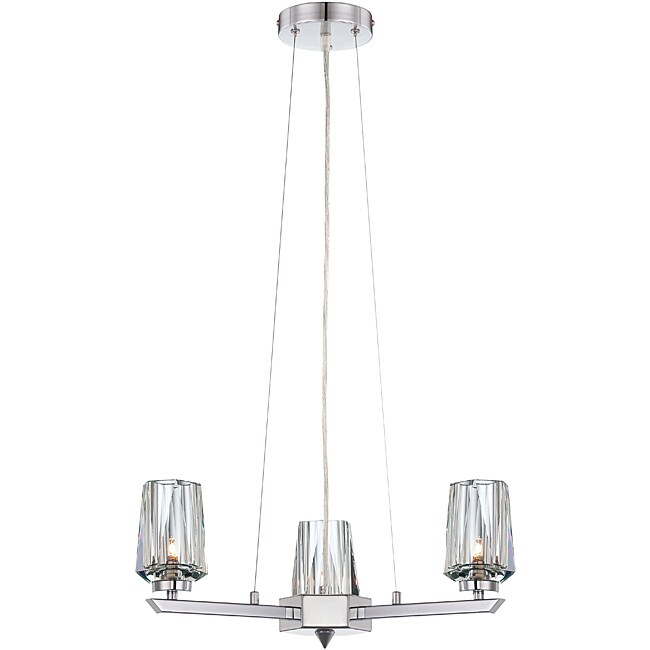 Shar-pei 3-light Chandelier with Crystal Shades