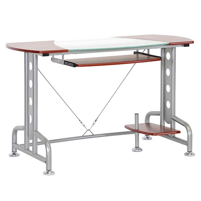 Dahan Cherry Modern Computer Desk with CPU Stand - 14174984 ...