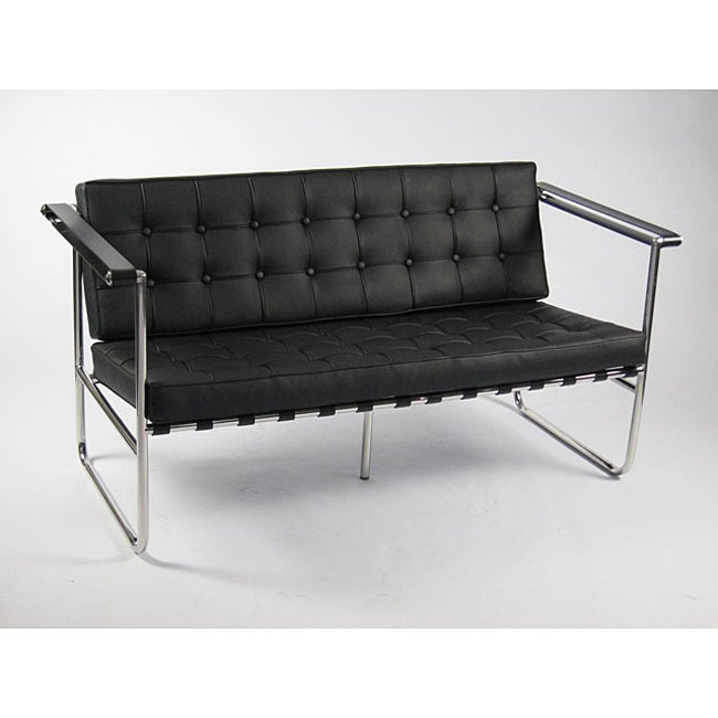 Celona Black Leather Loveseat at Sears.com