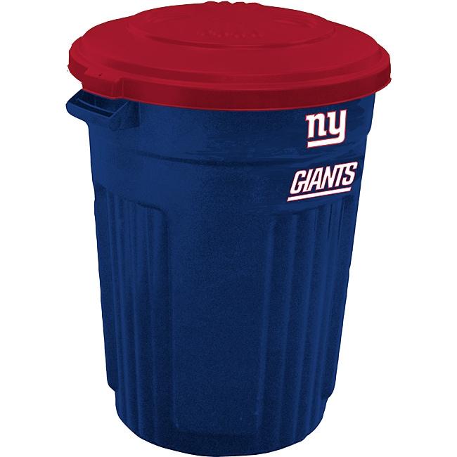 New York Giants 32-gallon Trash Can