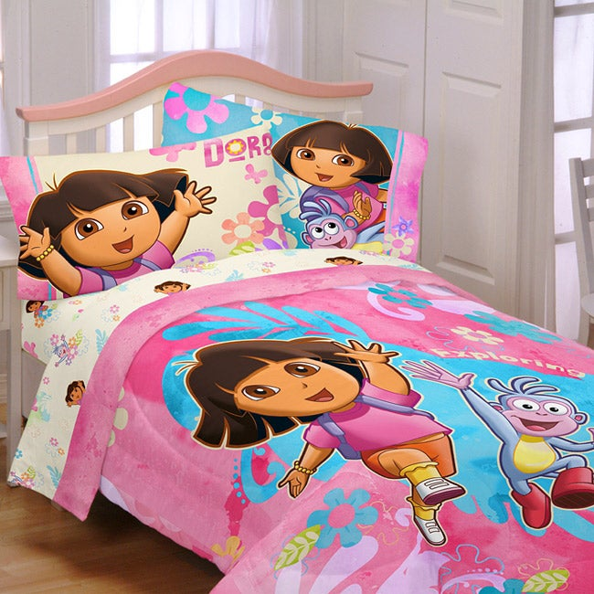 Dora the Explorer 'Exploring Together' Twin-size 4-piece ...