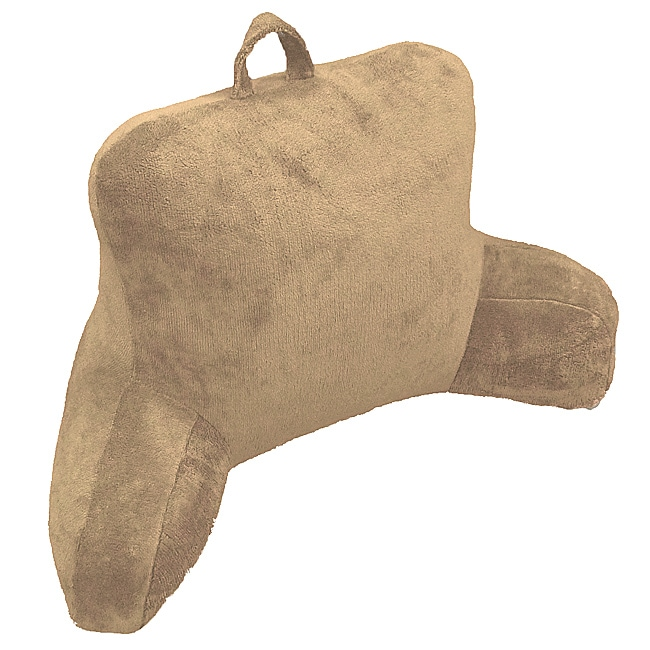 Tan Micro Plush Bedrest Lounger